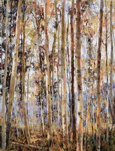 clive tyler aspens of the west - pastel Birch Forest, Aspen, Impressionism, Driftwood, Birches, Pastels, Artist, Nature, Trees