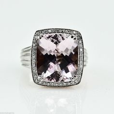 Charles Krypell pink topaz and diamond cocktail ring  My favorite!