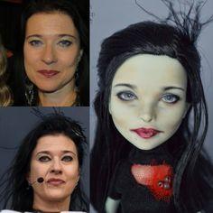 Portrait OOAK doll Anne Nurmi from Lacrimosa.  Потретный ООАК Анне Нурми из Лакримозы #annenurmi #lacrimosa #portraitooak #madambu