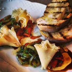 Roasted marinated peppers, tete de moine....Tête de Moine is a type of cheese manufactured in Switzerland @Christie M glenuill Chef Glen Ballis Moscow