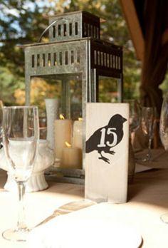 Rustic bird theme table decorations Bear Wedding, Card Box Wedding, Fall Wedding, Rustic Wedding, Lantern Centerpieces, Wedding Centerpieces, Wedding Lanterns, Centrepieces, Wedding Decorations