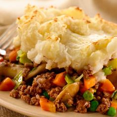 Our second special is Shepherd's Pie. This holiday favorite is a bit more Southern friendly: lean ground beef mixed with sweet garden peas and carrots in a homemade gravy, and topped with whipped cauliflower and melted cheddar cheese. All of this goodness is served with a side of fresh fruit.