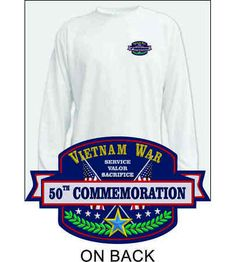 The design on this Vietnam War 50th Commemoration Performance Long Sleeve Shirt was created as part of the commemorative effort to educate the public on the lesser-known aspects of the war, to thank and honor Vietnam veterans from all of the Armed Forces, and to recognize the sacrifices made by the U.S. and her allies throughout the war. Everyone needs this comfortable Vietnam War 50th Commemoration Performance Long Sleeve shirt.