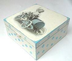 Handmade tea box by OldCraftStories on Etsy