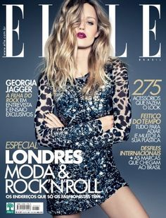 Georgia May Jagger covers the April 2012 issue Elle Brazil. ~