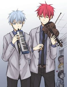 Kuroko gave the silver case to Akashi as they head back home