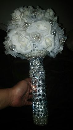 Hand made my wedding bouquet  getting married November 25 th 2017