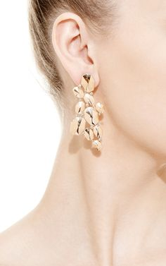 18K Rose Gold Large Dome Earrings With Diamonds by Octium for Preorder on Moda Operandi