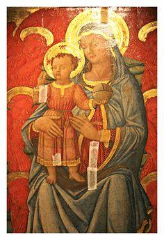 Madonna col Bambino di Giovanni di Ser Giovanni detto Lo Scheggia (fratello di Masaccio), 1440-50 toscana Fucecchio  #TuscanyAgriturismoGiratola
