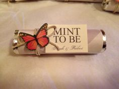 Bridal shower favors. Maybe something like this with an anchor instead of butterfly.
