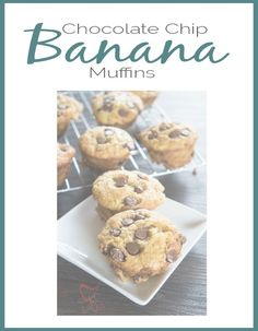 The BEST EVER Chocolate-Chip-Banana-Muffins- Designed Decor