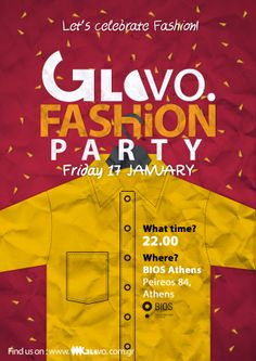Second Poster created for GloVo's Fashion Party celebrating our two fashion events: Bridal Fashion Week & Eco Fashion Event held in Athens. Fashion Events, Bridal Fashion Week, Athens, Hold On, Let It Be, Celebrities, Party, Poster, Celebs