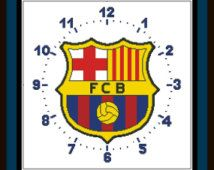 PDF Gráfico Punto de Cruz, Reloj Barcelona, Cross Stitch Pattern,