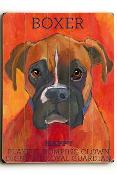 Boxer by Pet Art Shop on @HauteLook