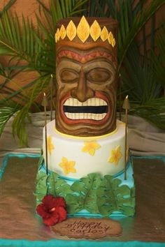 Tiki cake   By Romy on CakeCentral.com