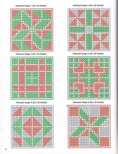 Merry Christmas Monogram Squares Pg. 5/6 Plastic Canvas Stitches, Plastic Canvas Tissue Boxes, Plastic Canvas Coasters, Plastic Canvas Ornaments, Plastic Canvas Christmas, Plastic Canvas Crafts, Plastic Canvas Patterns, Needlepoint Stitches, Stitching On Paper
