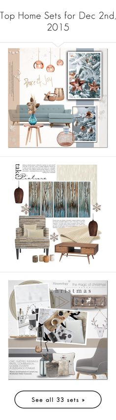 """""""Top Home Sets for Dec 2nd, 2015"""" by polyvore ❤ liked on Polyvore featuring interior, interiors, interior design, home, home decor, interior decorating, Shiraleah, Lene Bjerre, Joybird Furniture and Lenox"""