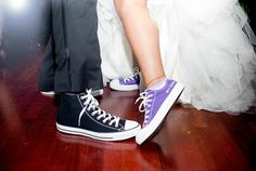 Yes, I would love to wear funky tennis shoes under my wedding dress someday.