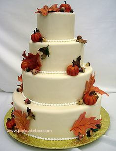 Fall Wedding Cake by Pink Cake Box