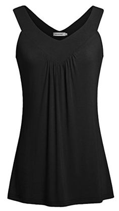 Sleeveless T Shirts for Women,Kospoon Sleeveless V Neck Pleated Tanks Black 2XL?  Special Offer: $25.99  255 Reviews Kospoon Women Sexy V Neck Sleeveless Tank Tops Loose Casual Blouses Tunic Shirts Kospoon is a new brand with new ideas. We are trying our best to provide the most...