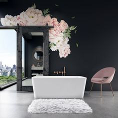 BainUltra's contemporary new Vibe tub offers a freestanding solution for small, urban spaces. The simple, ergonomic design, inspired by city skylines and architecture, features sloped walls and a s Bathroom Wall Storage, Bathroom Spa, Small Bathroom, Bathroom Ideas, Modern Bathroom Design, Bath Design, Kitchen Design, Bath Store, Bath Tiles