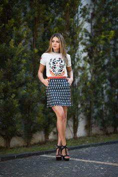 Saia e T-shirt - Linda de Morrer | Thássia Naves