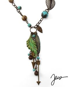 Native Spirit necklace, made with Vintaj components, available from beadinspirations.com