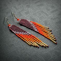 Long seed bead fringe earrings for women Bohemian style Bohemian Style Jewelry, Hippie Jewelry, Hippie Style, Beaded Jewelry, Candy Jewelry, Ethnic Jewelry, Seed Bead Earrings, Fringe Earrings, Women's Earrings