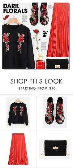 """""""dark florals"""" by meyli-meyli ❤ liked on Polyvore featuring Marc Jacobs, Clips, Michael Kors and darkflorals"""