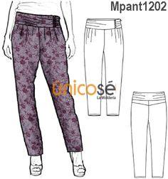 PANTALÓN MODA A LA CINTURA Girl Fashion, Fashion Design, Pattern Fashion, Trousers, Pajama Pants, Sweatpants, Patterns, Craft, Girls