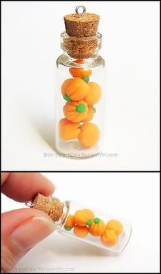 Pumpkin Candy Bottle Charm by Bon-AppetEats.deviantart.com    Available at: http://bon-appeteats.weebly.com/seasonal.html