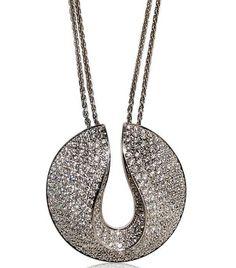 Gojee - Pave Diamonds Necklace by Antonini