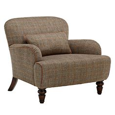 Buy Tetrad Harris Tweed Lewis Armchair, Bracken / Tan from our Armchairs range at John Lewis. Sofa Chair, Armchair, Shabby Chic Table And Chairs, Vintage Interiors, Harris Tweed, Fabric Sofa, Living Room Chairs, Soft Furnishings, Home Furniture