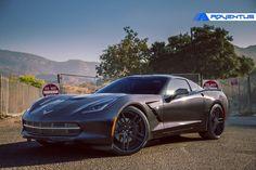 "Corvette stingray C7 22"" adventus ARZ G4 split 5 wheels grey black"