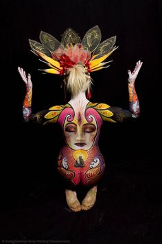 Festival Of Colors: 50 Artistic Body Art Paintings Wedding body art artists - Tattoos And Body Art Wedding Body, Painting Tattoo, Design Poster, Hand Art, Woman Painting, Skin Art, Body Art Tattoos, Full Body, Cool Art