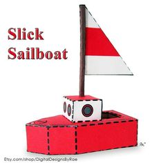 Slick Sailboat with a 2 inch high mast! http://ift.tt/2oQRNjj #sailboat #boat #thisboatdontfloat #papertoy #toy #printable