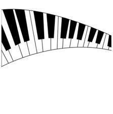 [フリーイラスト素材] イラスト, 背景, 音楽, ピアノ, 鍵盤, 楽譜, 音符, 渦 / スパイラル, EPS