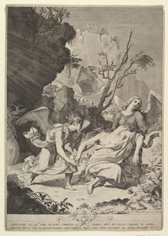 """""""Dying Magdalen Sustained by Angels"""" Artist: Claude Mellan (French, Abbeville 1598–1688 Paris) Dedicatee: Dedicated to Nicolas Peiresc (French, died 1637) Date: 1627 Medium: Engraving; second state of three Dimensions: sheet: 15 3/16 x 10 5/8 in. (38.5 x 27 cm) Classification: Prints"""