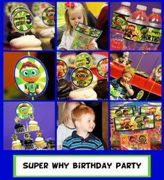 Super Why Party Package  PBS Kids