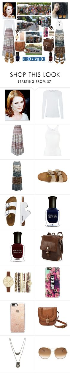"""""""Mother-Daughter Summer Art Fair Outing In Comfy Arizona Birk Sandals❤️👩🏼👩🏽👣🛣🏙🎭❤️"""" by chrisiggy ❤ liked on Polyvore featuring La Perla, See by Chloé, RE/DONE, Roberto Cavalli, Birkenstock, TravelSmith, Deborah Lippmann, AmeriLeather, Jessica Carlyle and Casetify"""