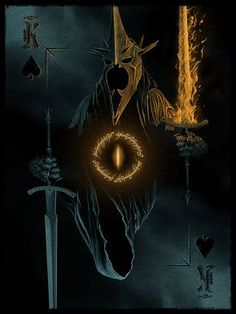 """King of Spades: """"Witch-King of Angmar"""" by Marko Manev - Lord of the Rings"""