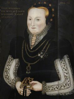 1566_Joyce, Lady Wilford (d. 1580). Wife of Sir James Wilford (d. 1550).  Artist: British (English School).  Corpus Christi College, Cambridge University.