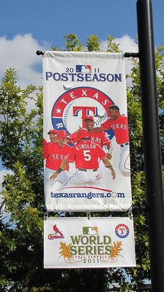 Texas Rangers 2011 World Series Banner #Texas #Rangers #TexasRangers #MLB #Baseball