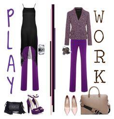 """PlayPant/WorkPant"" by nino-d-f ❤ liked on Polyvore featuring Giambattista Valli, Topshop, Michael Kors, Prada, Van Cleef & Arpels, Marlafiji, women's clothing, women, female and woman"