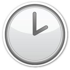 Resultado de imagem para emoticon relógio