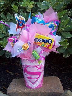 Kids Party Ideas Superman Favors Girl Superhero Candy Batgirl
