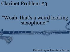 "GUYS ok so this person in my band class came up to me the first day my band director had me play bass clarinet and said, ""How did you get a clarinet and a saxophone to do that?"" I was about to smack said person Band Geek Humor, Band Nerd, Band Memes, Clarinet Humor, Bass Clarinet, Marching Band Jokes, Marching Band Problems, Love Band, Band Fun"