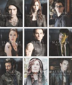 The Mortal Instruments: City of Bones Movie Character Posters Thought id give these books a try...not bad so far just weird reading from the viewpoint of ateen..lol