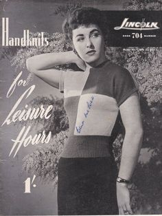 Lincoln Handknits for Leisure Hours    Knitting by jennylouvintage
