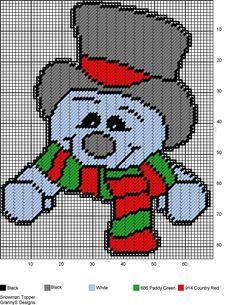 SNOWMAN TOPPER by GrannyS Designs